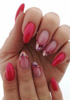 Pink Glitter Nails, Shellac, Nail Inspo, Poppies, Nailart, Nail Designs, Hair Beauty, Nail Polish, Color