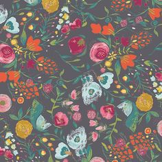 Art Gallery Fabrics Emmy Grace Budquette Nightfall 100% Premium Cotton Fabric