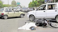 Truck driver without licence jumps signal, motorcyclist crushed to death
