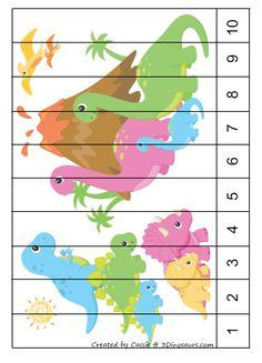 Kindergarten Learning, Kindergarten Math Worksheets, Preschool Curriculum, Preschool Lessons, Lessons For Kids, Teaching Kids, Dinosaur Theme Preschool, Dinosaur Activities, Dinosaur Crafts