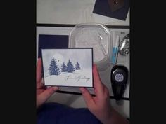 Stampin Up Scenic Season video - YouTube
