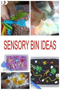 The best sensory bin ideas from kids of all ages. Great for preschool, Kindergart Toddler Sensory Bins, Sensory Tubs, Sensory Boxes, Baby Sensory, Toddler Fun, Sensory Activities, Sensory Play, Infant Activities, Toddler Preschool