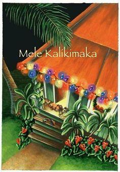 hawaiian christmas cards box of 10 plantation christmas by buns of maui christmas things christmas - Hawaiian Christmas Cards