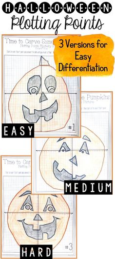 This halloween math activity is perfect for the middle school math classroom or even the high school math classroom. Students plot the points on the coordinate grid to create a fun Halloween math picture. This halloween math worksheet allows students to strengthen their skills at plotting points in all four quadrants.