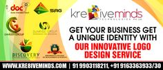 Your identity is crucial. To stand tall amidst the bunch is a big deal that gets you going! Nobody except us understands you and your requisite and therefore our creative team brings for you an innovative and trendy logo design service. The best part of it is that it comes at a price that fits your budget! For knowing more, please visit http://www.kre8iveminds.com/