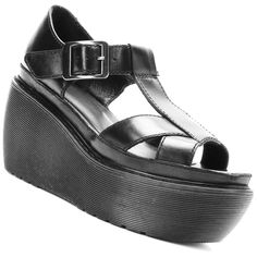 DR. MARTENS ADAYA Sandal Cross Strap Platform T-Bar Wedge BOXY Mary Jane UK5 #DrMartens #PlatformsWedges #Casual