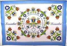 Kashubian cloth kitchen towel. 100% cotton.
