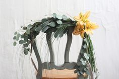 Post image for Spring Wedding DIY: Floral Chair Garland Chic Wedding, Wedding Events, Dream Wedding, Wedding Day, Wedding Things, Wedding Ceremony, Rustic Wedding, Wedding Centerpieces, Wedding Decorations