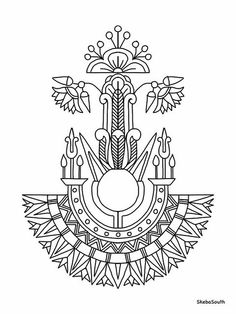 Egyptian Jewelry Coloring Pages Art Deco, Art Nouveau Design, Egyptian Symbols, Egyptian Art, Egyptian Drawings, 1000 Tattoos, Ancient Egypt Art, Ancient History, Jugendstil Design