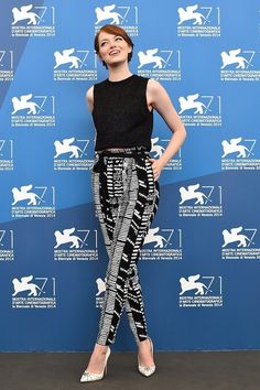 Wow, that's a lot of dresses. How about some epic pants? | 31 Photos That Prove Emma Stone Is The Most Stylish Person On Earth