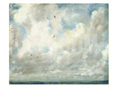 Cloud Study, 1821 (Oil on Paper Laid Down on Board) Stretched Canvas Print by John Constable at Art.com
