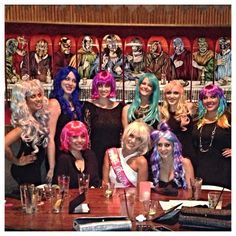 Wigging Out Bachelorette Party Loved All The Colors Or Even Just Extensions