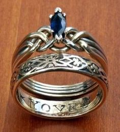 Beautiful Celtic rings by winnie