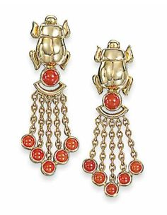 A PAIR OF GEM-SET EARRINGS, BY CARTIER