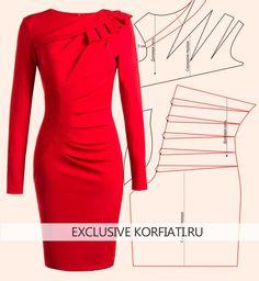 Это платье с завышенной талией - настоящая мечта для модниц! У платья столько интересных деталей. Выкройка платья с завышенной талией моделируется просто