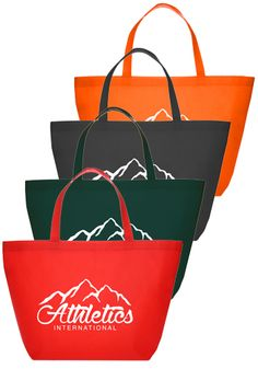#240721 - Add your Logo on Discount Non-woven Budget Grocery Tote Bags
