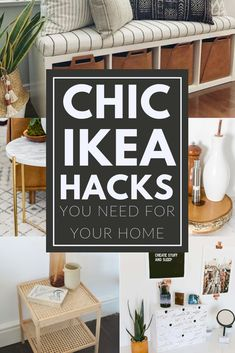 These hacks are so chic you'll never know they are actually from IKEA! Makeover your IKEA furniture and create the home of your dreams! Informations About Chic IKEA Hacks Pin You can easily use my pro Ikea Hacks, Ikea Furniture Hacks, Diy Hacks, Home Hacks, Home Furniture, Rustic Furniture, Laminate Furniture, Furniture Ideas, Ikea Furniture Makeover