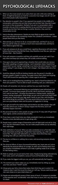 Psychological lifehacks to give you an advantage, #17 really works