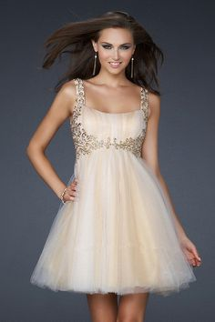 Shop 2012 Collection New Arrival Prom Dresses Spring Colors Blue Pink Silver A line Spaghetti Straps Short Mini Tulle & gowns inexpensive, formal & vogue party dresses boutique online.