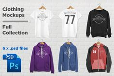 Clothing Mockups Full Collection by DanFreebairn on Creative Market