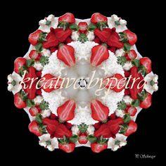 Mandala ''Erdbeertorte''  kreativesbypetra  #mandala #mandalas #mandalaart #mandalastyle #inspiration #innereruhe #spirit #erdbeertorte #strawberrycake #torte #cake Mandala Art, Adobe Photoshop, Christmas Wreaths, Christmas Tree, Petra, Holiday Decor, Canon, Home Decor, Mandalas