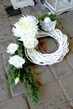 2014 Grave Flowers, Cemetery Flowers, Funeral Flowers, Funeral Floral Arrangements, Modern Flower Arrangements, Tissue Flowers, Faux Flowers, Ikebana, Cemetary Decorations