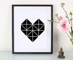 Artprint / Origami / Papagei