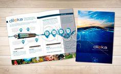 Folder promocional para divulgar produto da cliente Dileka