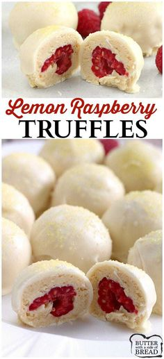 Simple recipe that's just amazing! Easy homemade truffles that use Lemon Ore… Simple recipe that's just amazing! Easy homemade truffles that use Lemon Oreo cookies. Easy Lemon Raspberry Truffles from Butter With a Side of Bread Homemade Truffles, Oreo Truffles, Homemade Candies, Oreo Cookies, Lemon Truffles, Chocolate Truffles, Chocolate Brownies, Candy Recipes, Sweet Recipes