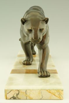 Art Deco Panther on marble