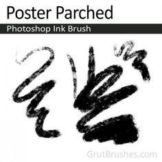 """""""Poster Parched"""" Ink Brush for Photoshop A well worn brush with a fuzzy woolly texture. Though it has a lot of texture, when used with some pressure at a relatively small brush size it's a worthy line sketching brush."""