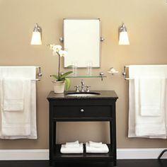 suitable decoration of bathroom lighting idea