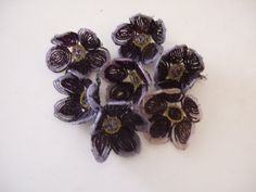 Antique French Beaded Flowers unused.Hand by JacquelineMcEwan