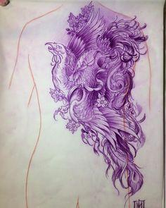 Szukam solidnych klientow na duze prace @japanesetattoo @japanesetattooart @irezumicollective @inkedmag @skinart_mag @tf_mag @art.japan @tattoolifemagazine @crazyytattoos @art_collective @polandtattoos #snaketattoo #phoenix #kanyewest #prismacolor