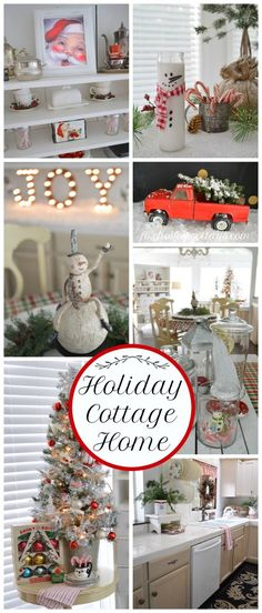 Cottage Christmas Home Tour. Full of simple, affordable, vintage, thrifted and diy holiday decor decorating ideas | foxhollowcottage.com