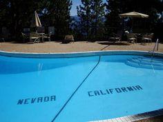 Actual California/ Nevada Borderline, Lake Tahoe