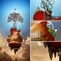 Strawberry Anarchy: Surreal Guitar Art