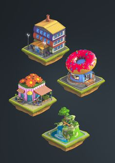 Isometric graphics: City Island 2 by Ugis Brekis, via Behance