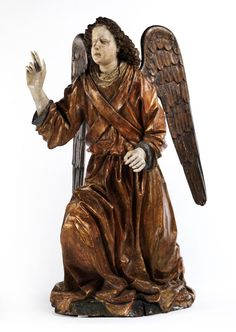 Large Annunciation Angel, Northern Italy 15th Century.