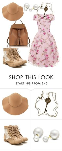 """Country Girl"" by emilizastyles ❤ liked on Polyvore featuring Sans Souci, Tiffany & Co., Allurez, Le Parmentier and country"