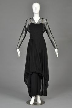 Hattie Carnegie 1940s Mesh Evening Gown