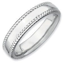 Ultimately Timeless Silver Stackable Rhodium Ring. Sizes 5-10 Available Jewelry Pot. $22.99. 30 Day Money Back Guarantee. Fabulous Promotions and Discounts!. All Genuine Diamonds, Gemstones, Materials, and Precious Metals. Your item will be shipped the same or next weekday!. 100% Satisfaction Guarantee. Questions? Call 866-923-4446. Save 64% Off!