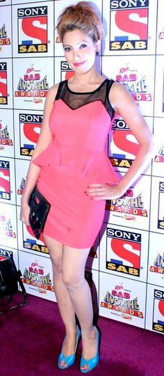 Moon Moon Dutta at the Sab Ke Anokhe Awards function. #Bollywood #Style #Fashion
