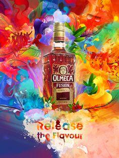 Olmeca Tequila Fusión by Alberto Seveso, via Behance