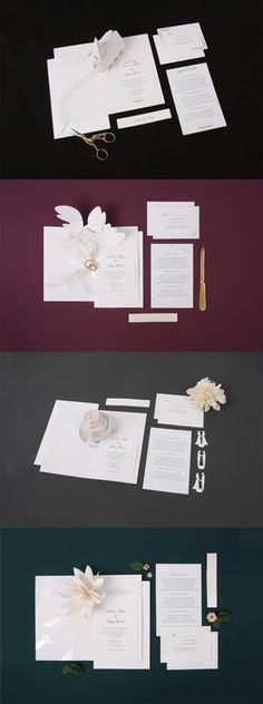 Our paper engineered wedding invitation suites are an efficient way to customize the details of your special day. We offer 4 beautifully engineered designs to choose from and can easily be printed on any home computer utilizing the templates we provide for each design. Each suite offers everything needed to create 24 invitations including the card, envelope, paper band, printable cards, printable reception/direction and printable RSVP.