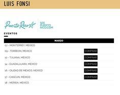 La página oficial de Luis Fonsi ya subió la fecha de Tijuana!  Y ustedes van a ir a Luis Fonsi en Tijuana?