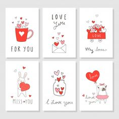 Draw greeting card for valentine's day with little heart Premium Vector Valentines Day Cards Diy, Valentine Greeting Cards, Valentine's Day Greeting Cards, Happy Valentines Day, Love Cards, Diy Cards, Logo Label, Valentine's Day Quotes, Scrapbook Stickers