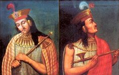 Portraits of Huáscar and Atahualpa from Peruvian stamps issued in 2004. Photo source: Stamps Peru