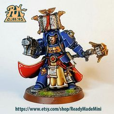 Space Marine Librarian in Terminator Armour with Bolter by ReadyMadeMini on Etsy