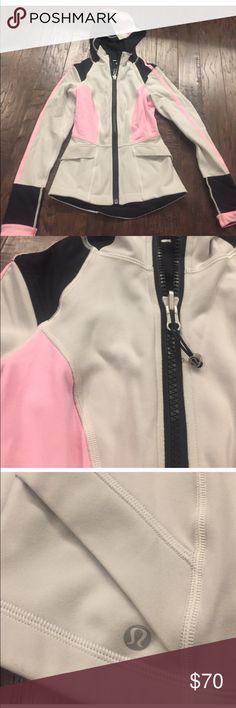 Lululemon jacket (pink + grey) In great condition. Zip up running jacket. lululemon athletica Jackets & Coats